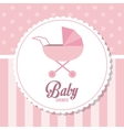 Baby Shower design stroller icon pink vector image vector image