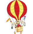 balloon flight vector image