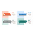 banner comfy modern couches set flat vector image