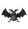Bat icon gray monochrome style vector image