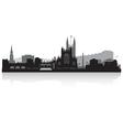 Bath city skyline silhouette vector image vector image