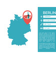 berlin map infographic vector image vector image