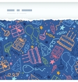 Birthday horizontal torn seamless pattern vector image vector image
