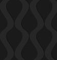 Black 3d wavy vertical connected drops vector image vector image