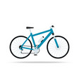 blue bicycle flat icon bike isolated on vector image