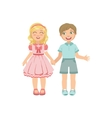 Boy And Girl In Love Holding Hands vector image vector image