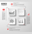 business web infographic template vector image vector image
