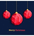 Christmas balls ornaments triangle red vector image