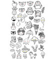 collection children doodles vector image vector image