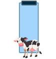 cow book mark concept vector image
