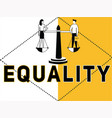 creative word concept equality and people doing vector image vector image