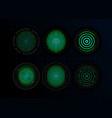 digital security system icons set fingerprint vector image