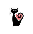 Elegant cat logo vector image vector image