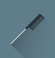 flat hairdresser styling comb icon vector image