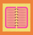 flat shading style icon spiral notepad notebook vector image vector image