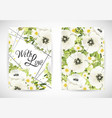 floral greting template card vector image vector image