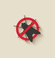 fly warning sign vector image vector image