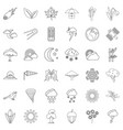 forecast icons set outline style vector image vector image