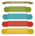 Full colors numbered banners vector image vector image