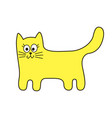 funny stylized cat sign cartoon icon in curve vector image