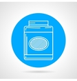Gainer can flat round icon vector image vector image
