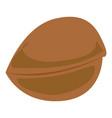 greek nut icon cartoon style vector image vector image