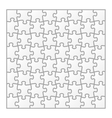 igsaw puzzle blank template vector image