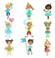 Kids On Birthday Party Set vector image vector image