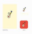love guitar company logo app icon and splash page vector image