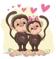 Lovers Monkeys vector image vector image