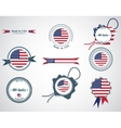 Made in USA - set of seals badges vector image