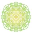 mandala ethnic round ornament hand drawn indian vector image vector image