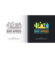 Mexican bar logo vector image vector image