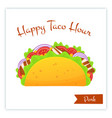 mexican traditional pork tacos food web banner vector image vector image