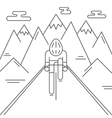 Modern of cyclist from front view vector image vector image