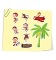 Monkeys and banana tree vector image