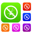 no spider sign set collection vector image vector image