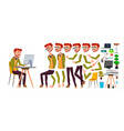 office worker red head ginger animation vector image vector image