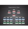 Organization Chart Infographics 2 vector image vector image