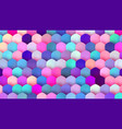 pastel colorful mosaic trendy bg for banner vector image vector image