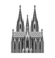 roman catholic cathedral in cologne vector image