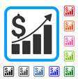 sales growth chart framed icon vector image vector image