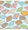 seamless pattern with colorful pillows vector image