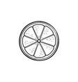 slice of lemon hand drawn sketch icon vector image vector image