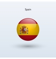 Spain round flag vector image