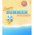 Summer beach party banner flyer background vector image vector image