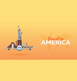 travel to america new york travel vector image