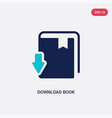 two color download book icon from education vector image vector image