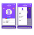ui of mobile app gui design for responsive vector image