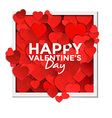 valentine card with paper hearts 2 vector image